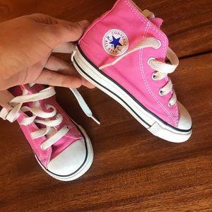 Hot pink converse 7